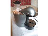Nespresso machine by Siemens makes espresso and cappuccino coffee