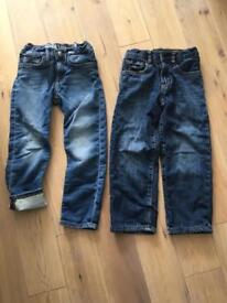 H&M super soft slim fit jeans 4-5yr, Gap 1969 loose fit lined jeans 5yrs