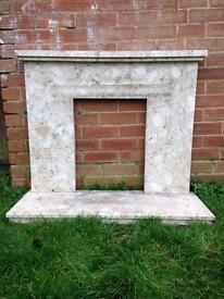 Marble fireplace/surround