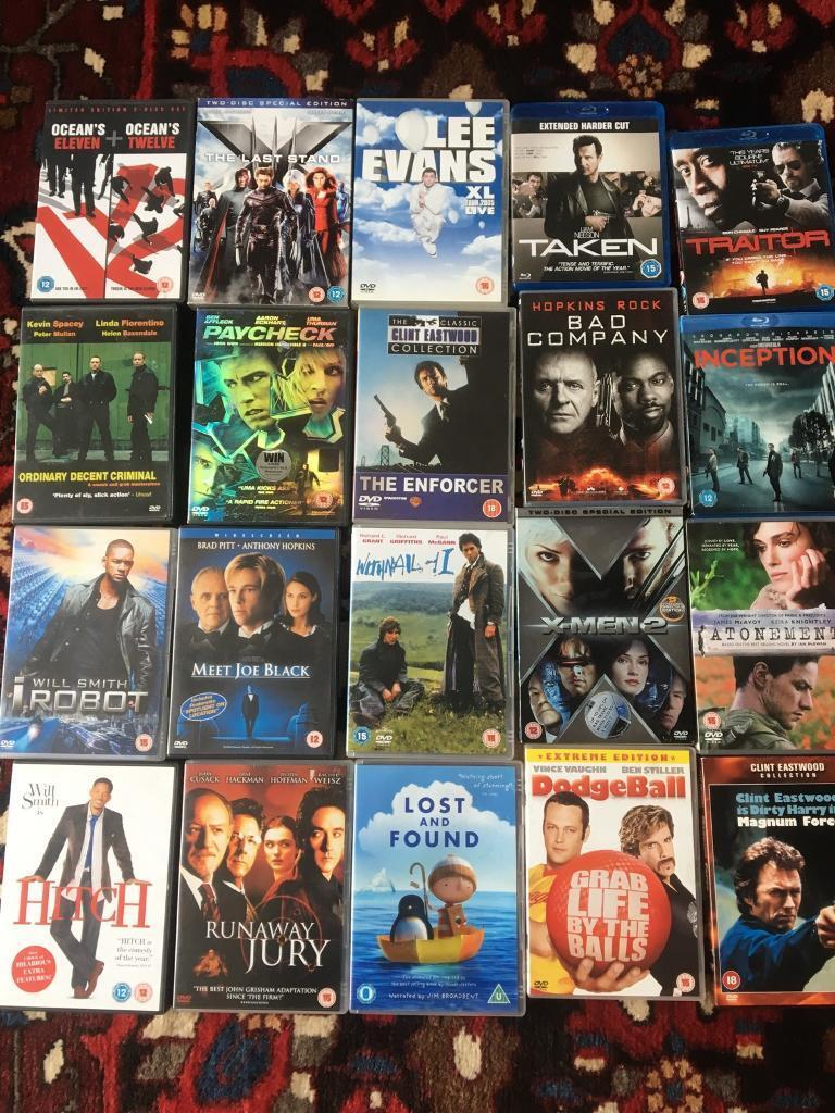 28 DVD's including some Blu rays.