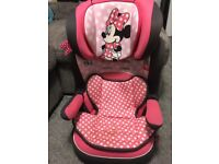 Girls Minnie Mouse toddler car seat