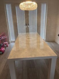 Dining Table - White High Gloss