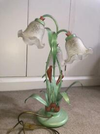 Glass and metal Lily lamp for sale!