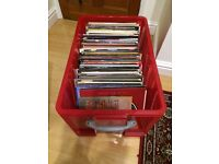 Crate of 160 vinyl record lps for sale