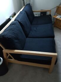 Black Ikea Futon for Sale