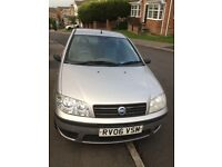 2006 FIAT PUNTO 1.2 ACTIVE. SILVER , 2 DOOR. LOW MILEAGE. IDEAL 1ST CAR - GOOD LOW INSURANCE RATE.