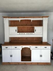 SPECTACULAR Kitchen Dresser solid pine living dining sideboard display hall Unit