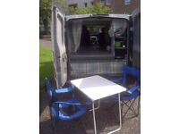 Camper/day van Vauxhall Vivaro MOT July 2019 Stand alone awning Rock and roll bed Fridge Portaloo