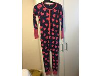 pink and royal blue onesie 10yrs for girls