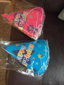 Party hats free to anyone who wants them.