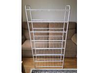 8 shelf white metal shoe rack