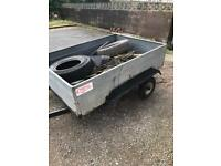 Twin axle trailer ( single for dump runs)