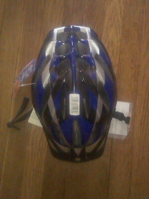 Schwinn Bicycle Helmet Blue, Black & Silver Stripes
