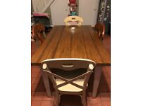 Solid wood kitchen table and 4 chairs