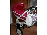 Quinny moodd pink carrycot