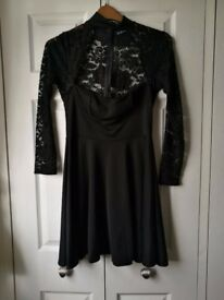 Boohoo lace panel skater dress size 12