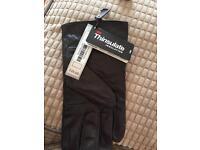 Black biker gloves m/L. l/XL