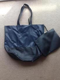 Beautiful navy blue handbag