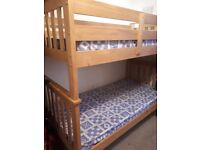 Solid pine single bunk beds / 2 single beds