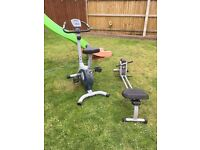 Ennis fitness bike and vfit rowing machine