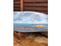 Ocean Kayak Peekaboo Sit-on-Top Kayak & Paddle, BNIB, Blue, viewing window