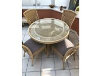 For Sale- Wicker Conservatory Table and chairs