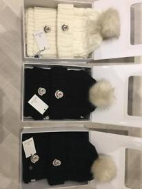 Moncler hat and scarf set.