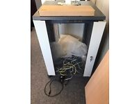 Server Cabinet with Switch - Great condition and great price