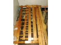 Affordable! Solid wooden double bed frame delivery available