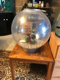 60l large bi orb fish tank very nice with heater pump gravel nice ornament look pic no lid and light