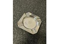 Solid Silver Square Ashtray NOT 9ct gold ring chain belcher