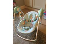 Baby swing seat chair bright starts, for child with music