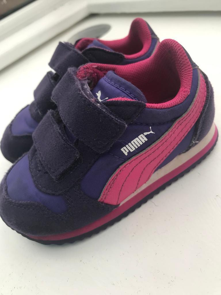 Baby Girls Puma Trainers Size 4