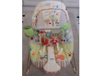 Fisher Price Woodsy Friends vibrating Bouncer
