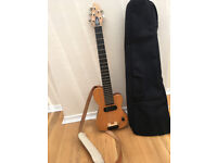Hand Made Clifton Mini electric bass guitar with gig case
