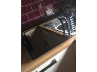 Excellent condition Black mirror Russel hobs microwave