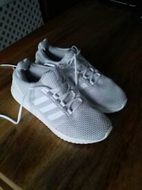 Adidas Cloudfoam Ultimate All White UK Size 6 - Practically new!