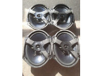 SET OF 4X FOMOCO CAR SPEAKERS, RATED 20W EACH, 4 OHMS IMPEDANCE, EXCELLENT CONDITION, OVAL SHAPE.
