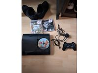 Used Playstation 3 with 2 Games
