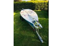 Laser Dinghy - Laser 2 Regatta including road and launch trolley, sails and cover - ready to sail
