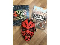 Star Wars books and mask