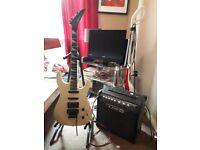 guitar aria pro 2 and line 6 amp