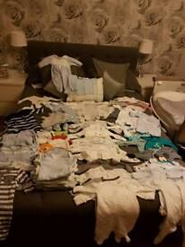 Baby boys clothes (newborn-3 months)