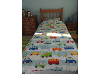 Childrens Vehicle Bedding Set & Curtains