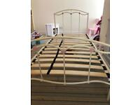 Next Cream Single Bed Frame