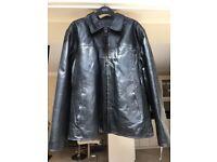 Black Leather Jacket Extra Large
