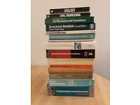 15x Various Civil Engineering Books - Ideal For University
