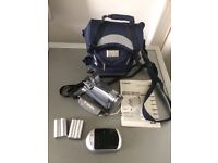 Canon digital video camcorder MY730i with carry bag, charger and spare baterries