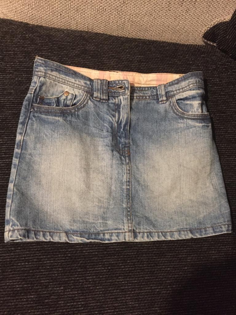 Girls next denim skirt