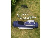 Golf Bag and Selection of Clubs